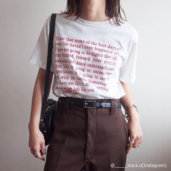 """なんか子どもっぽい……Tシャツコーデを""""オンナっぽく""""着こなすコツ!"""