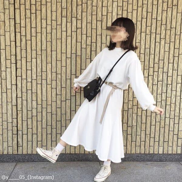 """低身長さん必見!話題の""""ロングワンピース""""お手本コーデ"""