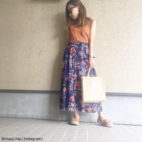 2019夏のトレンド「ロングスカート」お洒落に見えるポイント4つ!