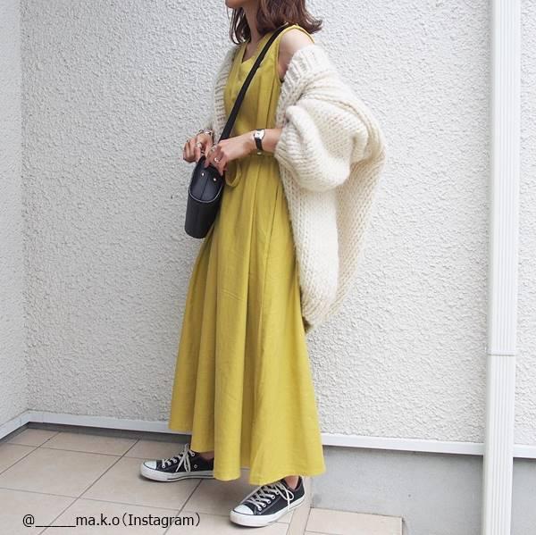 【GU・しまむら・titivate】羽織オンで秋まで♡「プチプラ夏ワンピ」の活用コーデ