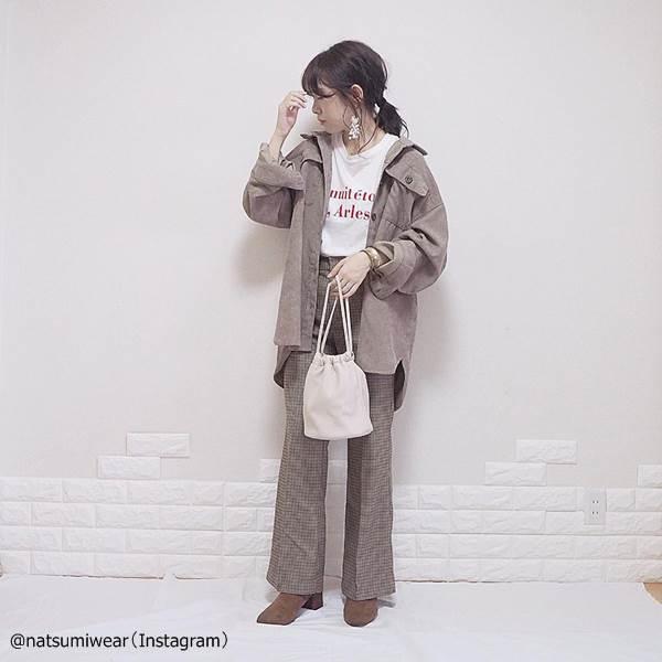 【しまむら】春先まで着られる万能シャツ♡「コーデュロイシャツコーデ」4選
