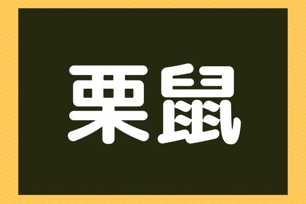 【栗鼠】漢字から連想!木の実大好きあの動物!