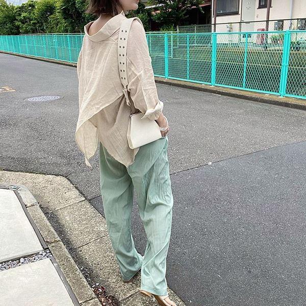 流行中のミントカラーを使った【梅雨ファッション】4選