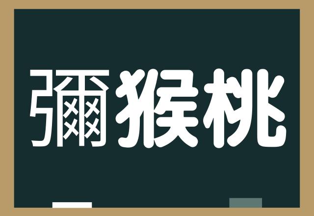 フルーツです【彌猴桃】レベルMAXかも?読めたら凄すぎる超難読漢字