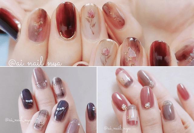 【セルフネイル】秋冬デザインが超絶可愛い件。真似して指先に季節感を♡